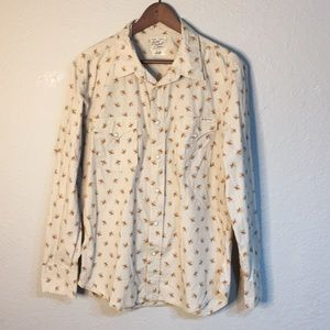 Lucky brand men's western pearl snap shirt large